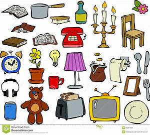 Household items stock vector. Illustration of headphones ...