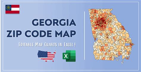 Georgia Zip Code Map And Population List In Excel