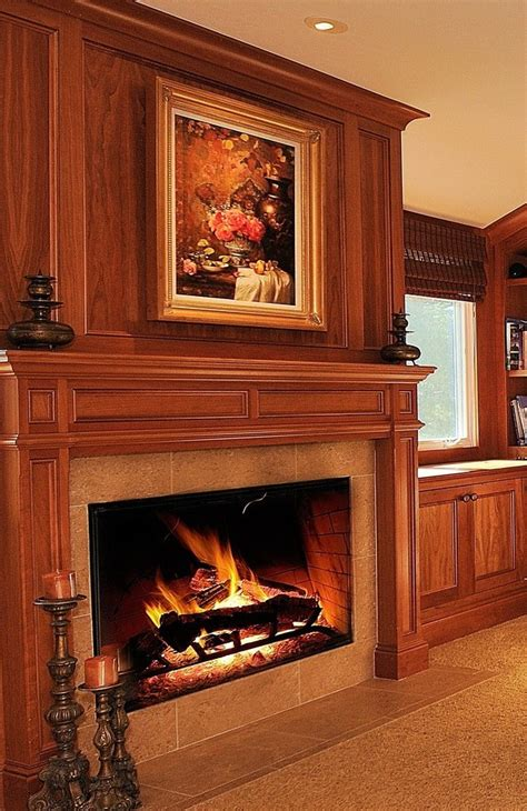 seattle glass tile fireplace surround living room