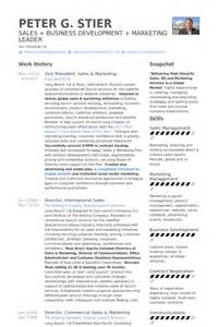 vice president of sales resume exle vice president resume sles visualcv resume sles