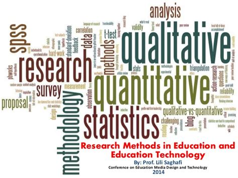 research methods  education  education technology