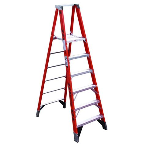 ladder review werner 8 ft fiberglass step ladder with 225 lb load capacity type ii duty rating fs208 the