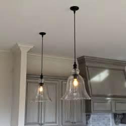 Kitchen Island Pendant Light Fixtures Above Kitchen Counter Large Glass Bell Hanging Pendant Lights Lighting Pendantlights