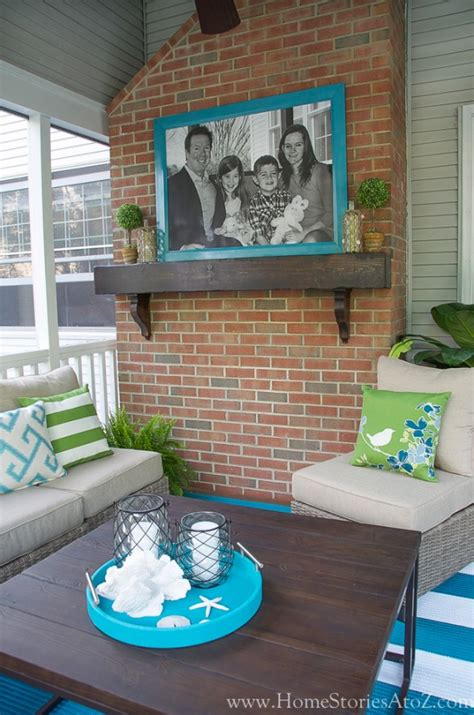 ideas for mantel decor lowe 39 s screen porch and deck makeover reveal