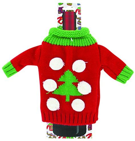 aytai 3pcs ugly christmas sweater wine bottle cover handmade wine bottle sweater for christmas decorations ugly christmas sweat sweater wine bottle covers sweater ideas
