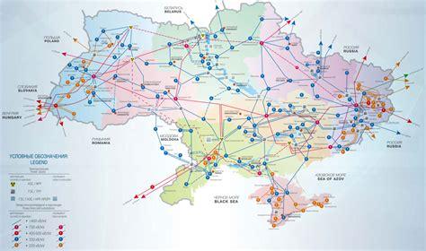 Карта - схема электросетей Украины и Крыма