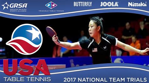 usa table tennis ratings 2017 us national team trials day 1 lily zhang vs amy