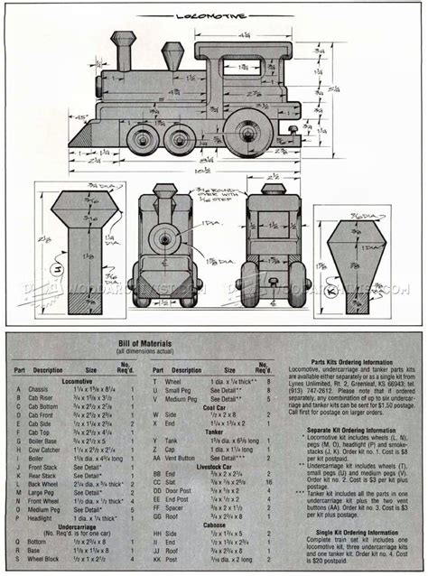 wooden toy train plans woodarchivist