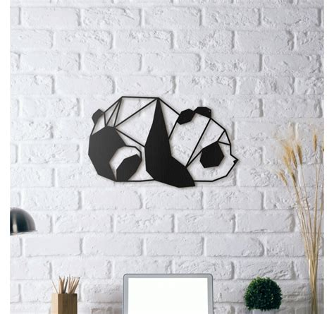 decoration murale metal accessoires deco metal wall decoration panda artwall and co