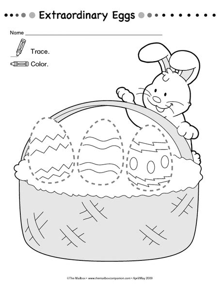 easter worksheet crafts and worksheets for preschool