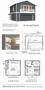 Apartment Garage Plans-1107-1bapt Needs To Be Set 10 U0026 39  From Side Lot Line
