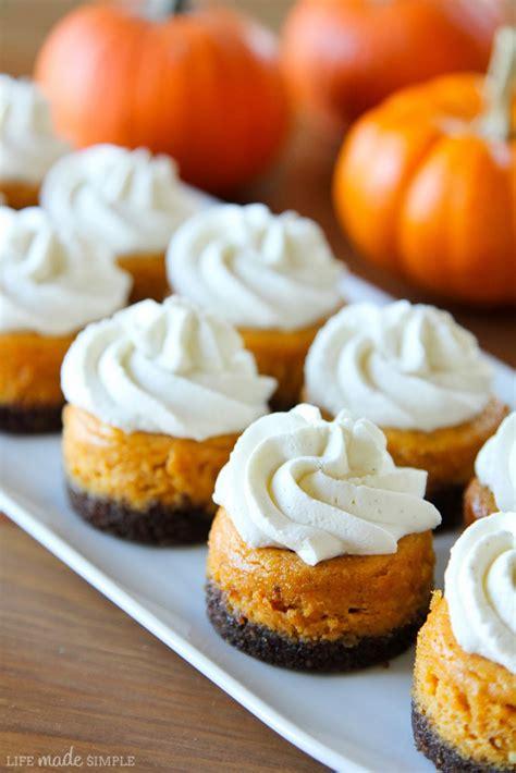 Gingersnap Pumpkin Cheesecake mini pumpkin cheesecakes with gingersnap crusts life