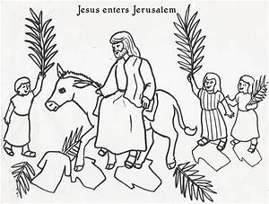 Jesus Rides A Donkey Coloring Page Coloring Pages For Free