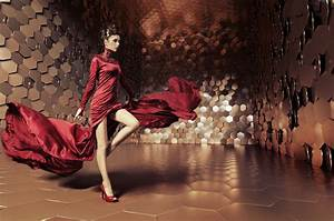 Wallpaper Glamorous woman, Top fashion model, red dress ...