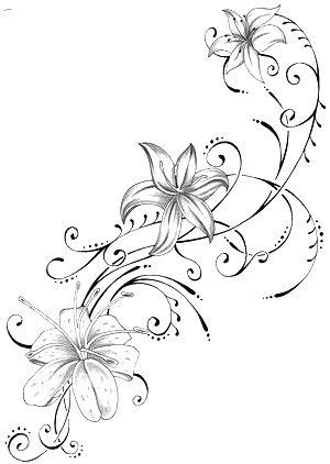 Pin by Rachel Laughlin on tattoos | Lily flower tattoos, Flower vine tattoos, Tropical flower