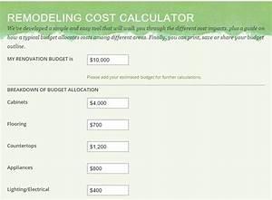 Remodeling Costs Estimator