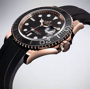 Rolex Yacht Master 116655 Watch In Everose Gold With Black