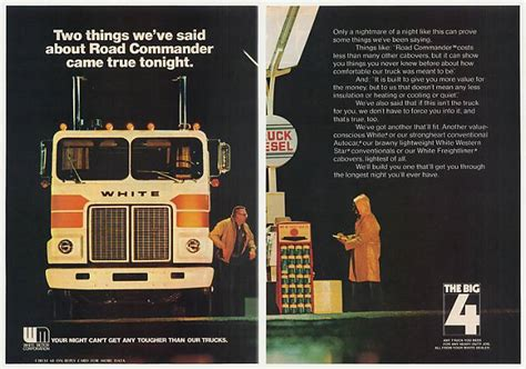 adspastcom  white road commander truck photo  page ad