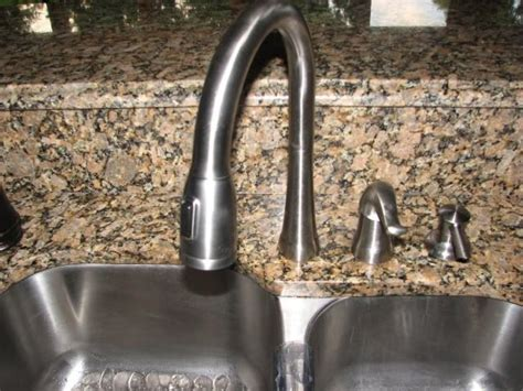 kitchen faucet placement so that is how you get the 60 40 sink to still look