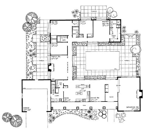 house plans with courtyard pools the 25 best house plans with courtyard ideas on