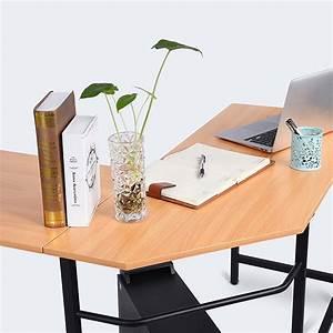 Tisch Holz Metall : eckschreibtisch schreibtisch computertisch pc tisch arbeitstisch holz metall lm ebay ~ Somuchworld.com Haus und Dekorationen