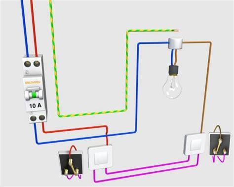 schema electrique chambre schema va et vient branche technologie