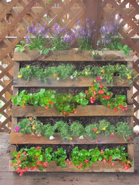 pallet planter the semi urban gardener
