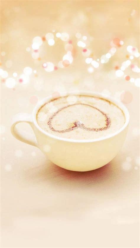 Heart latte art   A girly iPhone wallpapers   iPhone Wallpaper