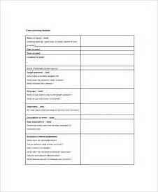 Sample Event Itinerary Template