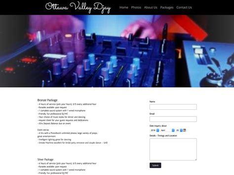 Dj Website Templates How To Build A Wedding Dj Website