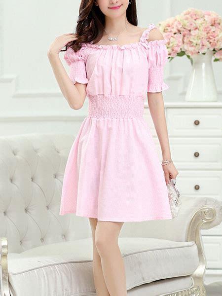 light pink summer dress light pink the shoulder mini dress for casual