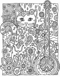 To Print This Free Coloring Page Coloring Adult Cat Guitar Click On The Printer Icon At The