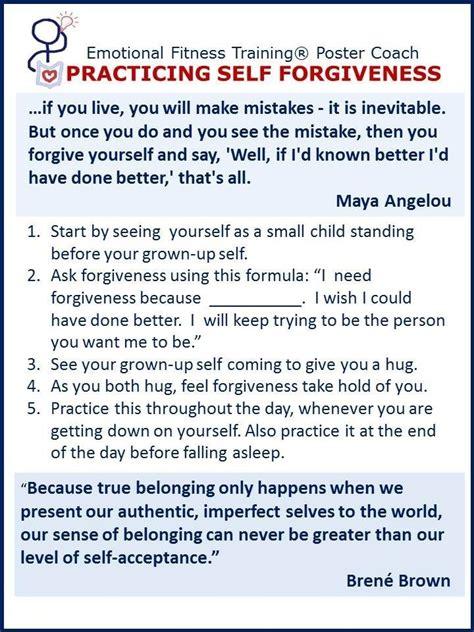 practicing self forgiveness health wellness