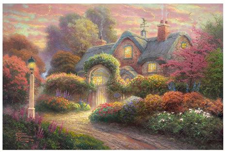 home interiors kinkade prints thomas kinkade hd prints original oil painting in painting calligraphy from home garden on