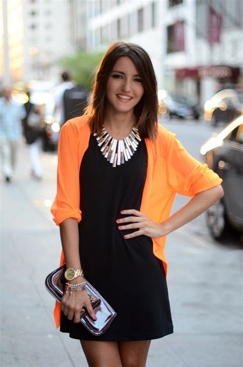 Orange Cardigan and Black Dress   Interview Outfits for Ladies   Pinterest   Interview Blazers ...