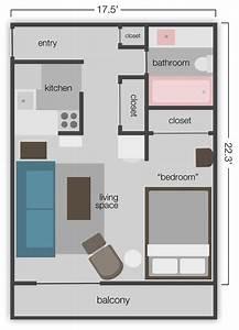 390 sq ft studio apt floor plan idees creatives With small studio apartment floor plans