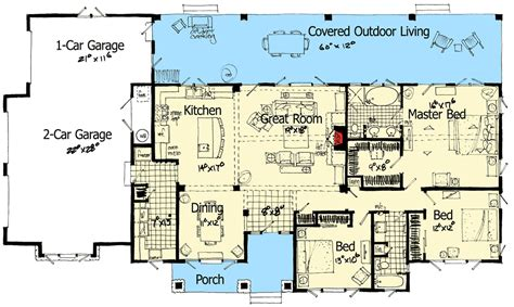 Outdoor Living Floor Plans by Mountain Home With Outdoor Living Space 12929kn