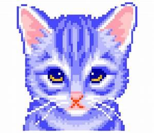 gif cats colourful pixel transparent pixel gif transpare ...