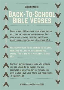 Encouraging Back To School Bible Verses Free Printable