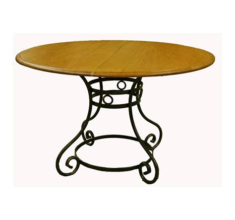 table ronde en fer forge table ronde ch 234 ne et fer forg 233 table en ch 234 ne massif meuble fin de s 233 rie direct
