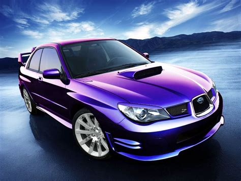 purple subaru legacy subaru impreza wrx sti un coche de color morado metalizado