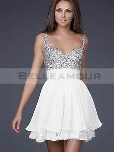robe soiree courte blanche With robe de cocktail combiné avec perle pandora rose