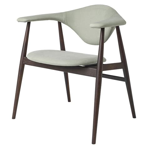 masculo fully upholstered dining chair light green smoked oak base rouse home