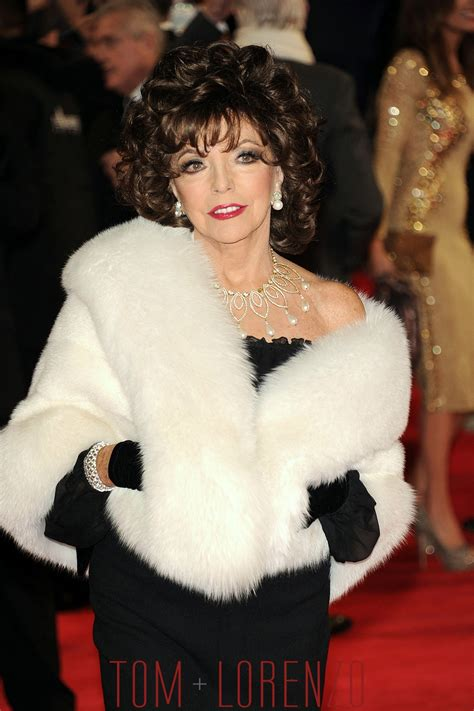"""Joan Collins at the """"Spectre"""" Royal World Premiere   Tom ..."""