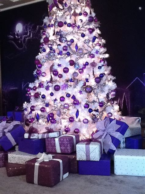 white christmas tree decorations pictures top purple decorating ideas
