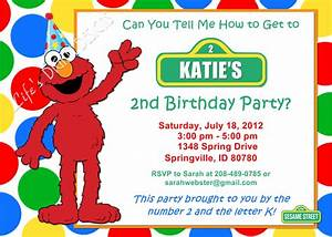 exciting elmo birthday invitations to create your own With elmo template for invitations