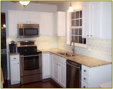 White Subway Tile Backsplash With Dark Cabinets : White Subway Tile Backsplash White Cabinets