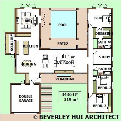 single storey house plans bh architects cape town