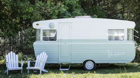 the block s michael and carlene duffy renovate a viscount caravan with white knight paints