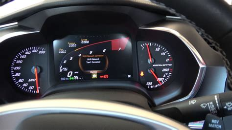 how does cars work 1997 chevrolet corvette instrument cluster 2017 c7 corvette gauge cluster change the rpm circle to look like a lamborghini youtube